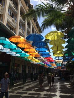 #caudan #waterfront #mauritius #colourful #umbrellas