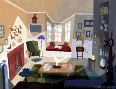 Color Keys from Up by Lou Romano - Disney Concepts & Stuff