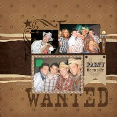 scrapebook layouts for birthdays | Cowboy Birthday Party Digital Scrapbooking Layout | Flickr - Photo ...