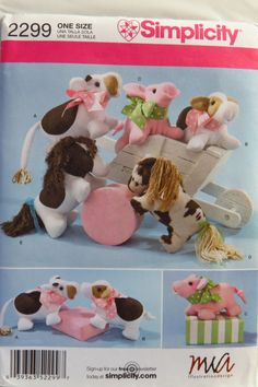 Simplicity 2299 Stuffed Animals