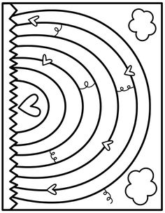 Coloring Club — From the Pond Color-Rainbow. Spring Coloring Pages, Colouring Pages, Free Coloring, Adult Coloring Pages, Coloring Pages For Kids, Coloring Sheets, Coloring Books, Kindergarten Coloring Pages, Washi Tape Crafts