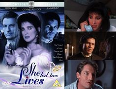 She Led Two Lives (1994) Connie Sellecca stars in this true story about a married woman who ends up committing bigamy when she also marries her former high school sweetheart, juggling both marriages to keep them secret from each other