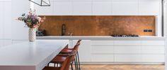 Aged Copper Backsplash 2 | Metal Sheets Limited