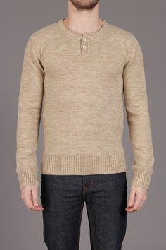 The Wool Blended Henley Sweater