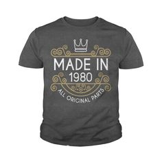 Made In 1980 All Original Parts #gift #ideas #Popular #Everything #Videos #Shop #Animals #pets #Architecture #Art #Cars #motorcycles #Celebrities #DIY #crafts #Design #Education #Entertainment #Food #drink #Gardening #Geek #Hair #beauty #Health #fitness #History #Holidays #events #Home decor #Humor #Illustrations #posters #Kids #parenting #Men #Outdoors #Photography #Products #Quotes #Science #nature #Sports #Tattoos #Technology #Travel #Weddings #Women