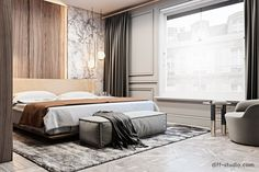 Flat in London. on Behance London Apartment Interior, Apartment Renovation, Interior Architecture, Interior Design, Interior Ideas, Round Beds, Design Your Dream House, Living Room Windows, Luxurious Bedrooms