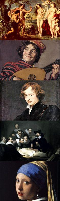 Cinque grandi pittori fiamminghi e olandesi del '600