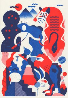 """thisispaper: """" Exquisite Corpse Print Exhibition """""""