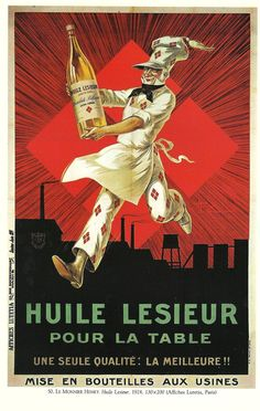 Vintage French Lesieur Oil advertisement poster