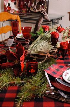 country christmas table decor
