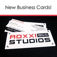 Our latest business card design and print. Custom cut is fun!