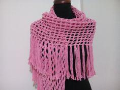 Pink crochet shawl, handmade shawl, wrap boho crochet, evening shawl, bridal shawl, wrap lace, wedding shawl beach, ready to send #etsy #crochet #handmade #pink #scarf #gift #accessories #wrap #triangleshawl #shawl #egst Bridal Shawl, Wedding Shawl, Lace Wedding, Pink Shawl, White Shawl, Crochet Shawl, Hand Crochet, Evening Shawls, Prayer Shawl