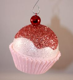 Homemade Cupcake Christmas Ornaments you can buy on etsy...