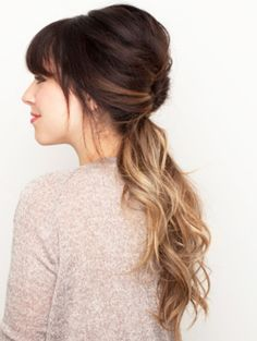 Spring Hairstyles 2014: Loose Ombred Ponytail - http://www.heygirl.net/women-hairstyles/spring-hairstyles-2014-loose-ombred-ponytail/