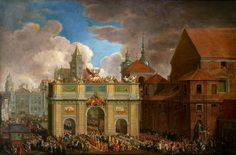 Entry of Augustus III into Warsaw by Gerard Rüger after Johann Samuel Mock, original 1734 (PD-art/old), Muzeum Warszawy