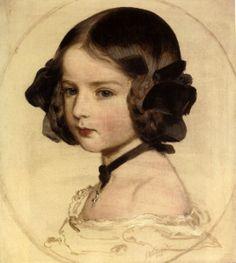Franz Xaver Winterhalter (1805 – 1873, German), Princess Clothilde von Saxen Coburg