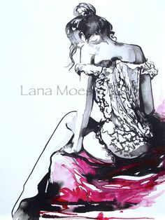 Print from Original Watercolor Fashion Illustration by LanasArt, $20.00 (SO perfect for my bedroom!)