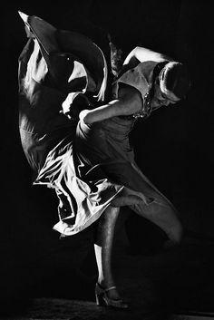 photo noir et blanc : Mijas Flamenco Danseuse , Andalousie, Espagne (1902)