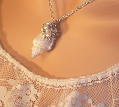 morgan would love this! Sea Shell Jewelry Necklace from the  Mermaids Jewel by LaurenKusar, $29.00