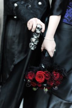 Red and black wedding flowers #goth wedding ... Wedding ideas for brides & bridesmaids, grooms & groomsmen, parents & planners ... https://itunes.apple.com/us/app/the-gold-wedding-planner/id498112599?ls=1=8 … plus how to organise an entire wedding, without overspending ♥ The Gold Wedding Planner iPhone App ♥