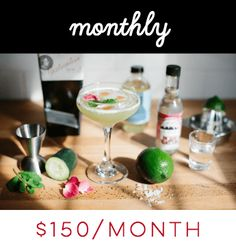 Cocktail Subscription Plan Subscription Monthly Subscription