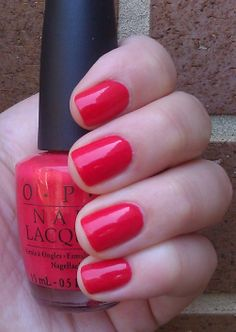 Used this color for my pedicure today: OPI Cajun Shrimp. Perfect for summer!