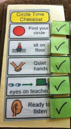 Circle Time Checklist