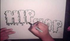 How to Draw cool graffiti letters, step-by-step