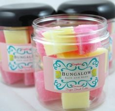 Bungalow Bath and Body Raspberry Lemonade Sugar Scrub Cubes