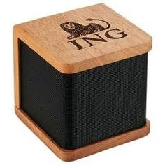 Seneca Bluetooth Wooden Speaker - This is a classy gift for your customers or executives.  The Seneca Bluetooth Speaker is made from real Mahogany wood. Producing a sound that is as natural as the wood its made from. Custom speakers are always a great choice for promotional products especially for millennials who are more into natural products!