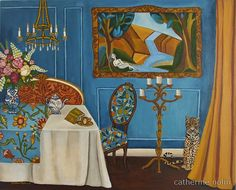 """""""Leopard In The House"""" by Catherine Nolin. Acrylics on canvas, 2011."""