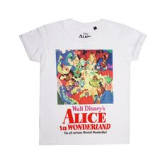 Disney Girls - Alice Film Poster - T-shirt - White - CLEARANCE - 9-10 Years