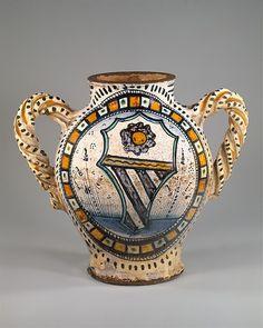 Armorial Jug (vaso), Tuscany? (Italy), probably ca 1480.
