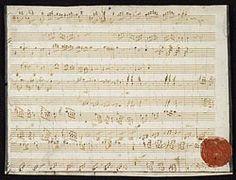 Mozart, Wolfgang Amadeus, 1756-1791. Sonatas, piano, 4 hands, K. 381, D major (Fragment) . Sonata for piano, 4 hands, in D major, K. 123a/381 : autograph manuscript, 1772.