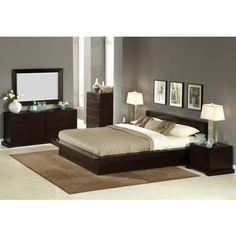 Lifestyle Solutions ZUR-QNB-CP-SET Zurich Queen Bed