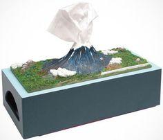 #MountFuji #TissueBox Holder http://thegadgetflow.com/portfolio/mount-fuji-tissue-box-holder/?utm_content=buffer40e09&utm_medium=pinterest&utm_source=pinterest.com&utm_campaign=buffer Erupts one tissue at a time!