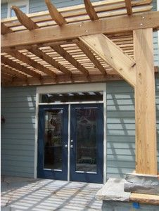 pergola ideas and pergola designs Like how this one is attached to house and bottom of posts