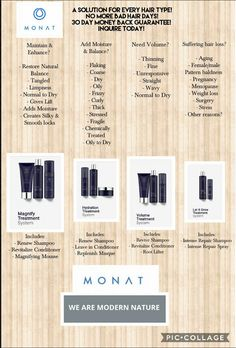 Solution to Bad Hair days. Bring your hair back to health with Monats natural anti aging hair care. Best on the planet!! No more frizzy, dry, oily, damaged hair. Monat is the solution. 30 day guarantee