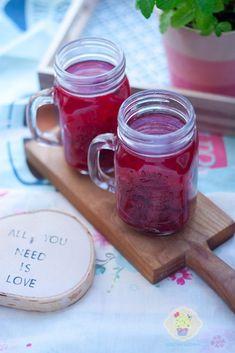 kompot rabarbarowy All You Need Is Love, Mason Jars, Mugs, Tableware, Dinnerware, Tablewares, Canning Jars, Mug, Place Settings
