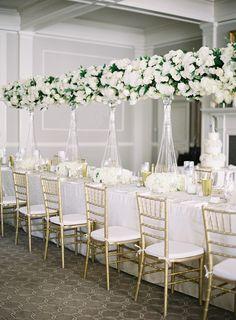 Timeless white Portland reception   Photography: Sposto Photography
