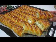 [LEZZETİ BENZERİ YOK❗] ÖYLE BİR BÖREK YAPTIM Kİ😋 KAT KAT VE YUMUŞACIK OLDU💯 KATMER BÖREK TARİFİ👌 - YouTube Hot Dog Buns, Hot Dogs, Macaroni And Cheese, Waffles, Bread, Breakfast, Cake, Ethnic Recipes, Food