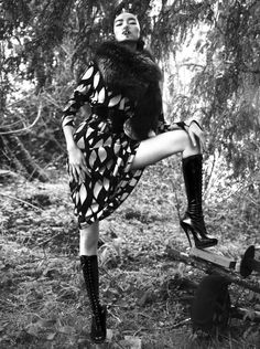 Publication: Vogue Italia June 2015 Model: Fei Fei Sun Photographer: Mert Alas & Marcus Piggott