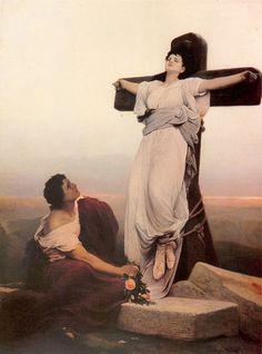 Gabriel von Max, A Christian Martyr on the Cross (Saint Julia)