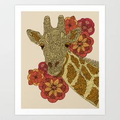 The Giraffe Art Print by Valentina Harper - $12.48