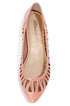 Dia 01 Blush Pink Cutout Pointed Flats - $21.00