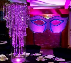 Masquerade ball ideas for adults. Theming a masquerade event for adults. Quinceanera Centerpieces, Wedding Reception Centerpieces, Graduation Centerpiece, Floating Candle Centerpieces, Diy Centerpieces, Masquerade Theme, Masquerade Ball, Diy Wedding, Wedding Flowers