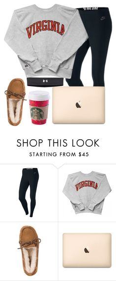 """December 18th aka the laziest day ever :)"" by daydreammmm ❤ liked on Polyvore featuring NIKE, UGG Australia and Under Armour"