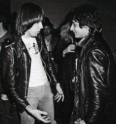 Johnny Ramone & Johnny Thunders #Legends #PunksNotDead