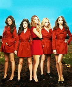 Pretty Little Liars is a very popular show and I would say it is appart of a lot of girls culture. I love it also because of the suspense and how even though their lives are always getting messed up they have a perfect friendship with one another. Pll, Pretty Little Liars Costumes, Pretty Little Liers, Popular Shows, Halloween Costumes For Girls, Film Serie, The Most Beautiful Girl, Scary Movies, Best Shows Ever