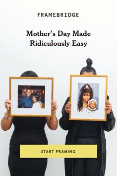 The perfect Mother's Day gift is already on your phone -- upload a photo and choose a frame she'll love. We'll ship it (for free) right to your door. Easy Start, Beautiful Gifts, Custom Framing, Inventions, Dyi, Gifts For Mom, Art For Kids, Wedding Photos, Two By Two